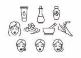 Kostenlose Beauty Line Icon Vektor