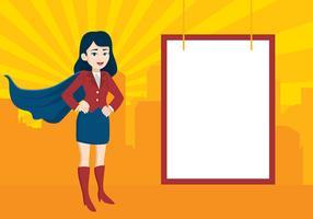Superwoman Mitarbeiter kostenlose Vektor