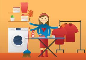 Supermom kostenloser Vektor