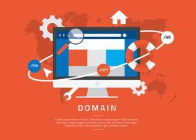 Domain-Illustration kostenlose Vektor