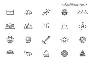 Gratis Indien Festival ikoner vektor