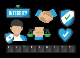 Integritätssymbole Vektor