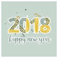 Vektor-neues Jahr-Karte vektor