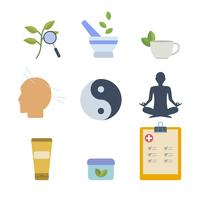 Plana akupunktursvektorer