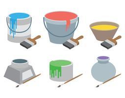Farbtopf-Vektor-Icons vektor