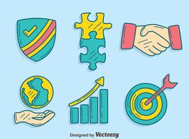 Handgezeichnete Integrity-Element-Vektor