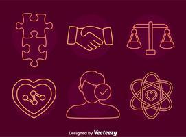 Integritätslinie Icons Vektor