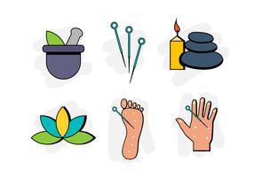 Flache Akupunktur-Symbol