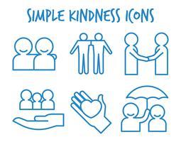 Freundlichkeit-Vektor-Icons vektor