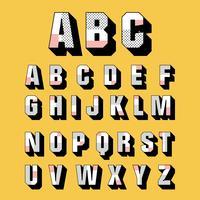 3D Schriftarten Vektor