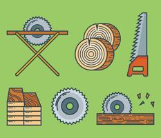 Holzfäller-Vektor-Icons vektor