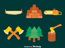 Flache Holzfäller Vektor