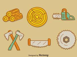 Handdragen Woodcutter Vector