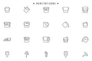 Gratis målarpottvektorer