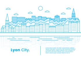 Lyon-Stadt-Vektor vektor