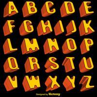 Vektor orange 3d Schriftart