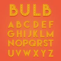 Glühbirne 3D Schriftarten Vektor
