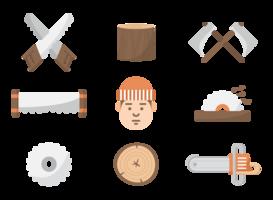 Holzfäller Icons Vektor