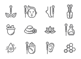 Akupunktur-Ikonen-Vektor