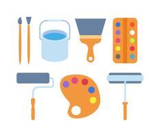 Frei herausragende Paint Tools Vektoren