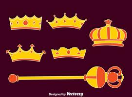 Royal Scepter And Crown Vector