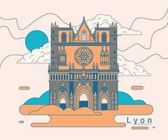 Lyon Kathedrale Saint Jean Vektor