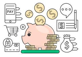 Linear Finance und Banking Vektorelemente