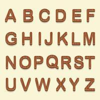 3D hölzerne Schriftarten Vektor