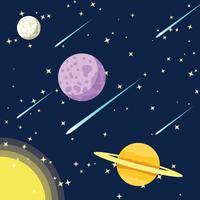 Yttre utrymme med stjärnstoft bakgrundsvektor