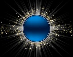Kreis mit Sternenstaub-Vektor vektor