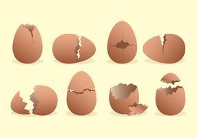 Brutna ägg ikoner Set