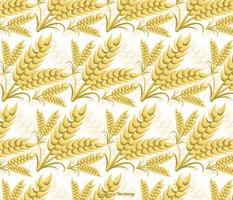 Seamless Vector Wheat Ears Pattern