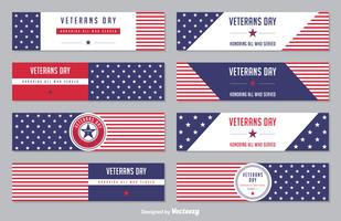 Veterans Day Sternenbanner Vector Banner Set