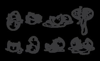 brutna ägg ikoner vektor