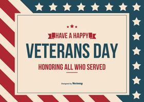 Glücklicher Veteranen-Tagesvektor-Hintergrund