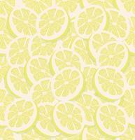 färsk skiva en citron sömlös vektor