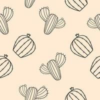 kaktus sömlös vektor mönster