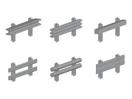 3D isometrische Leitplanke vektor