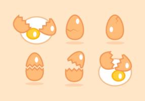 Broken Egg kostenlose Vector Pack