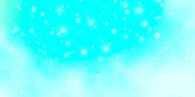 blaue Vorlage mit Neonsternen.