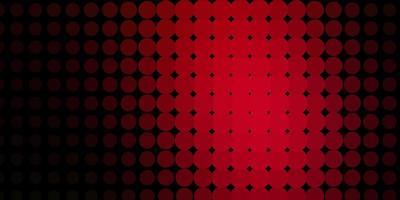 mörkrött vektormönster med cirklar.