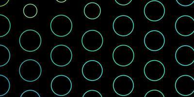 dunkelgrünes Layout mit Kreisen.
