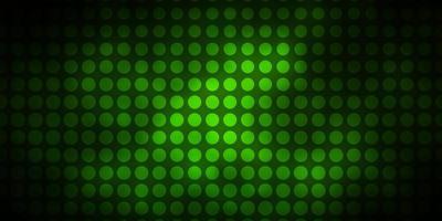 mörkgrön layout med cirklar
