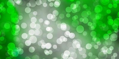 hellgrüner Vektorhintergrund mit Kreisen