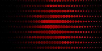 dunkelrotes Vektormuster mit Kreisen. vektor
