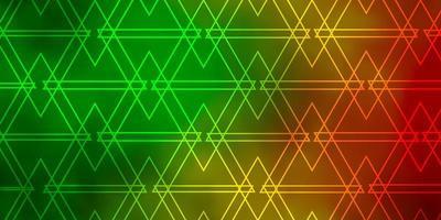 mörkgrönt, gult mönster med polygonal stil. vektor