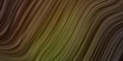 dunkelgrüne, gelbe Vektortextur mit trockenen Linien.