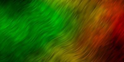 dunkelgrüne, gelbe Vektortextur mit trockenen Linien. vektor