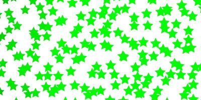 ljusgrön mall med neonstjärnor.
