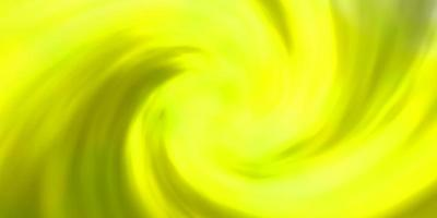 hellgrüne, gelbe Schablone mit Himmel, Wolken. vektor